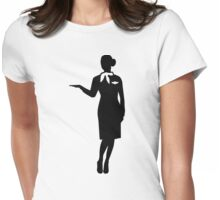 Stewardess airline Womens Fitted T-Shirt