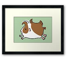 Leaping Guinea-pig ...Brown and White Framed Print