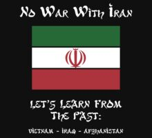 No War With Iran Kids Clothes