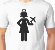 Stewardess plane Unisex T-Shirt