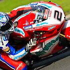 Leon Camier No 2, Airwaves Ducati, British Superbikes, Croft Circuit, 2008 by RHarbron