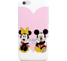 Mickey & Minnie Heart iPhone Case/Skin