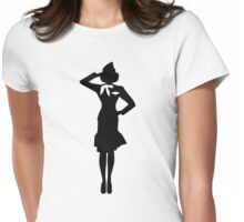 Stewardess Womens Fitted T-Shirt