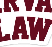 Harvard Law Just Kidding Sticker