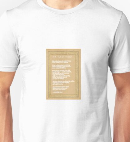 The Guest House Poem by Rumi Unisex T-Shirt