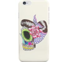 sugar skull pin up  iPhone Case/Skin