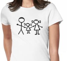 Stickman family Womens Fitted T-Shirt