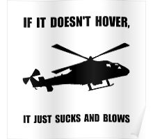 Helicopter Hover Poster