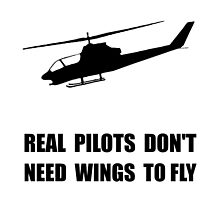 Helicopter Pilot Wings by AmazingMart