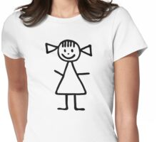 Stickman woman girl Womens Fitted T-Shirt