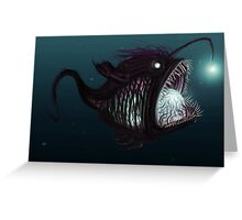 Deep sea angler - Diceratias nassa Greeting Card