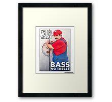 SexyMario MEME - All About That Bass Framed Print