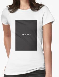 Sad Boy Minimalist Black and White - Trendy/Hipster Typography Womens Fitted T-Shirt