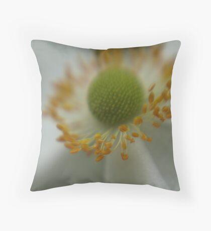 White Flower III Throw Pillow
