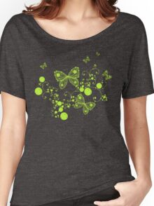 Green Butterflies Women's Relaxed Fit T-Shirt