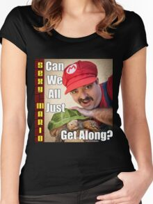 SexyMario MEME - Can We All Just Get Along? Women's Fitted Scoop T-Shirt