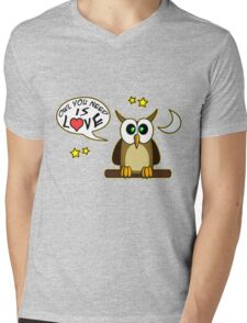Owl you need is love! Mens V-Neck T-Shirt
