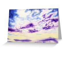 Purple Cloud Sky Greeting Card