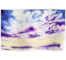 Purple Cloud Sky Poster