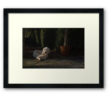 waiting for my master Framed Print