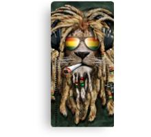 DJ Rasta Lion Smoke Canvas Print