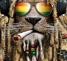 DJ Rasta Lion Smoke by UniqueCase