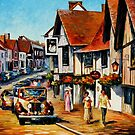 Wedding Day In Lavenham, Suffolk, England — Buy Now Link - www.etsy.com/listing/227853020 by Leonid  Afremov