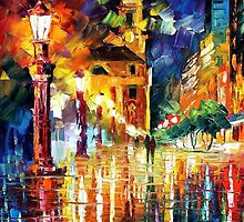 Night City Lights — Buy Now Link - www.etsy.com/listing/227469658 by Leonid  Afremov