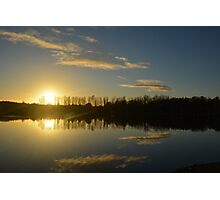 Sunset over Loch Photographic Print
