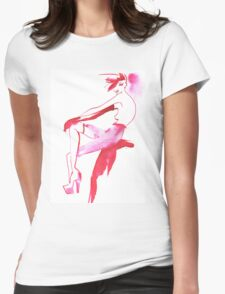 Red lady Womens Fitted T-Shirt