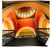 Stepping Up - The Grand Staircase - Queen VIctoria Building - The HDR Experience Poster