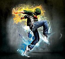 Dancing in flames and ice by Elena Savitskaya