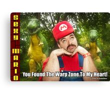 SexyMario MEME - You Found The Warp Zone To My Heart 1 Canvas Print