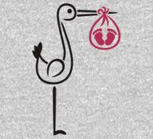 Stork baby feet girl Kids Clothes