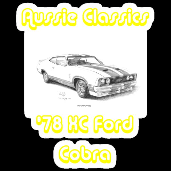 78 Ford XC Cobra - Aussie Classics (Black Text) by Joseph Colella