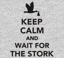 Keep calm and wait for the stork Kids Clothes