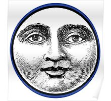 MOON FACE:  BLUE Poster