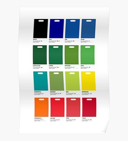 Supermarket Colours Poster