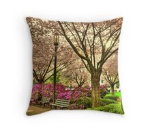 Spring day at the State Park Salem Oregon Throw Pillow