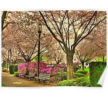 Spring day at the State Park Salem Oregon Poster
