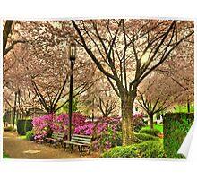 Spring day at the State Park Salem Oregon Poster