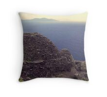 View from the Skelligs, Ireland. Throw Pillow