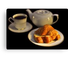 Breakfast Croissant  Canvas Print