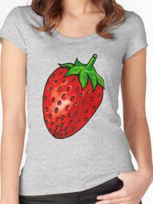 Strawberry Women's Fitted Scoop T-Shirt