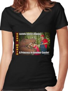 SexyMario MEME - Another Princess Women's Fitted V-Neck T-Shirt