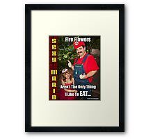 SexyMario MEME - Fire Flowers Aren't The Only Thing I Like To Eat! Framed Print
