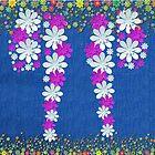 Denim Jeans Lookalike Flower Spray by Gotcha29