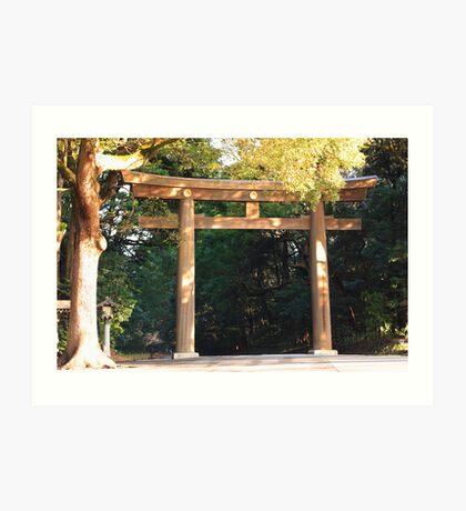 Meiji-Jinju Shrine Torii Art Print
