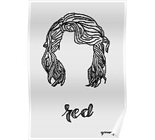 Red Era hair sketch Poster