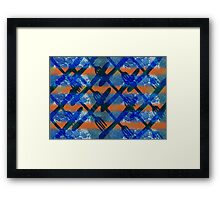 Fork and Knife repeat Framed Print